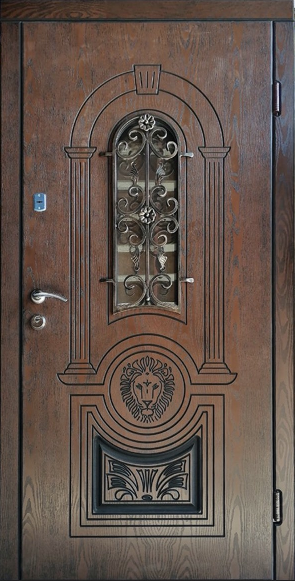 Двері Вхідні ТМ «Lvivski Polimer» Серія «Optima Vip» Модель 12 1200*2050
